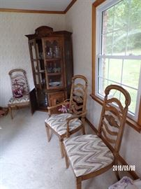 China Hutch and showing 3 of the Dining Chairs - main level