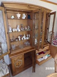 close up of the Hutch, showing the drawers & figurines - mail level