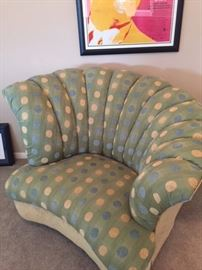 art deco overstuffed chair very clean