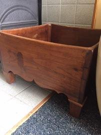 Super cool antique pine woodbox