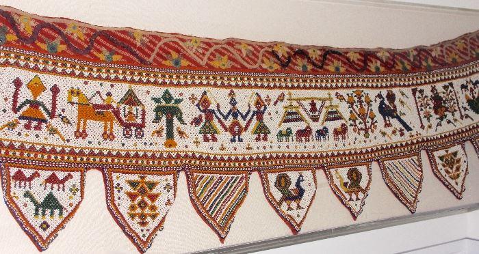 Framed Indian beaded piece