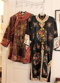 Vintage Chinese embroidered jacket & robe