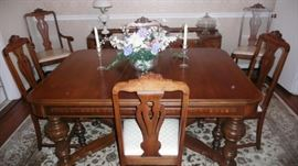 Antique dining set you will have to see to believe!