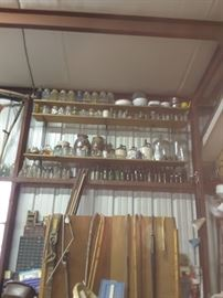 Collection of pottery and jars