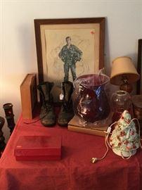 Vietnam Fighter Pilot Boots, Art,  Misc Items