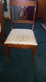 One of Four Lyre Back Chairs