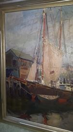 Live Auction Piece: Emile Albert Gruppe Oil 1896 - 1978  Harbor Seascape Bidding begins on Saturday, September 30, 2018 at 1:00 pm.  Opening bid: $3000.00 Bidder must be present.  Payment is due in full at the close of the auction.