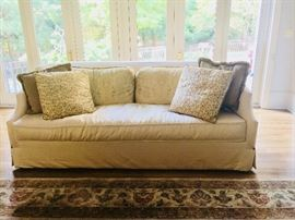 Henredon sofa with down filled cushions