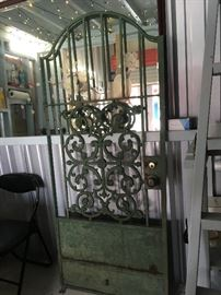 Wrought Iron Door: Green Garden Gate ALY2018 Local Pickup https://www.ebay.com/itm/113283928510