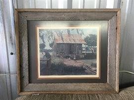 Barn Board Framed Print by Albert DeForest Cajun Family CW006 Local Pickup https://www.ebay.com/itm/113283953716