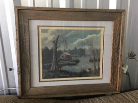 Barn Board Framed Print by Albert DeForest Cabin in the Marsh CW007 Local Pickup https://www.ebay.com/itm/123400138828