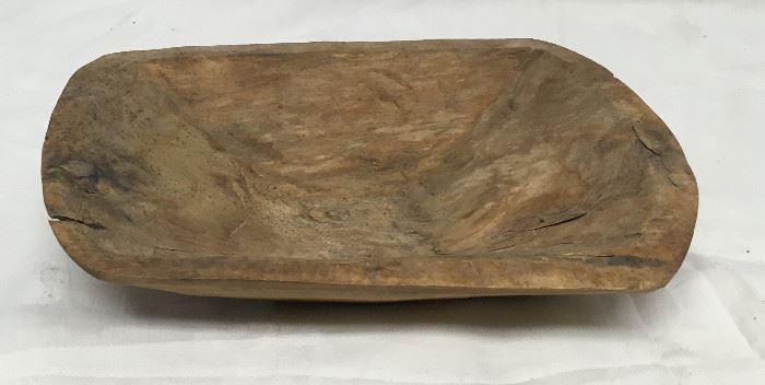 "Wood Bowl: Antique Primitive Hand Carved DOUGH Trough Shaker BD8102 ~6""  https://www.ebay.com/itm/123414137811"