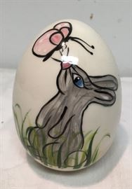 Hand Painted Ceramic Egg by Susan Lumpkin Bunny and Butterfly BD8108  https://www.ebay.com/itm/123405343966