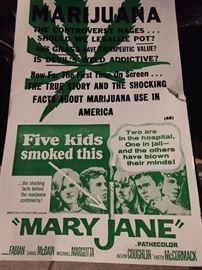 Maryjane marijuana poster