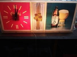 Lighted beer colors sign