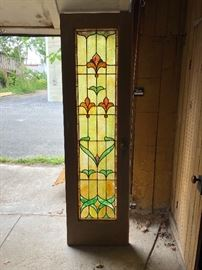 1 half of stainted glass french doors