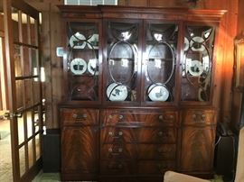 Flaming Mahogany China Cabinet - WHAT  A  BEAUTY!
