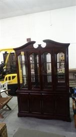 2 Piece Wooden china cabinet.