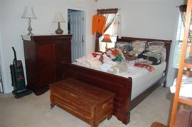 Sleigh Bed and you get the matress for free. Cedar Chest