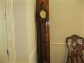Stand up wooden clock
