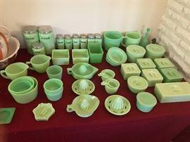 Collection of Jadeite glassware. Do your homework.