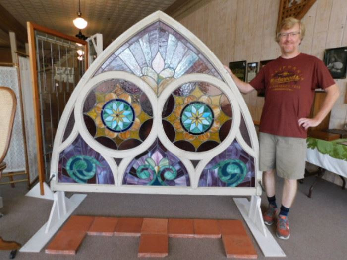 Large Ornate stain glass window