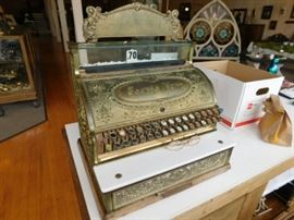 Brass cash register
