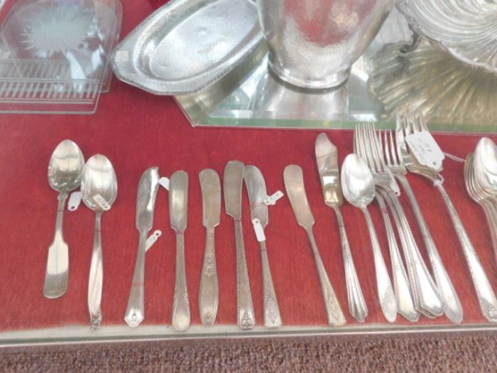 Antique silver plate flatware