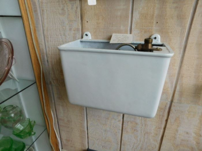 Antique water closet tank