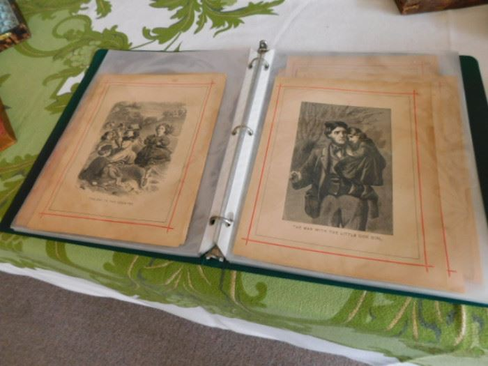 Antique lithographs