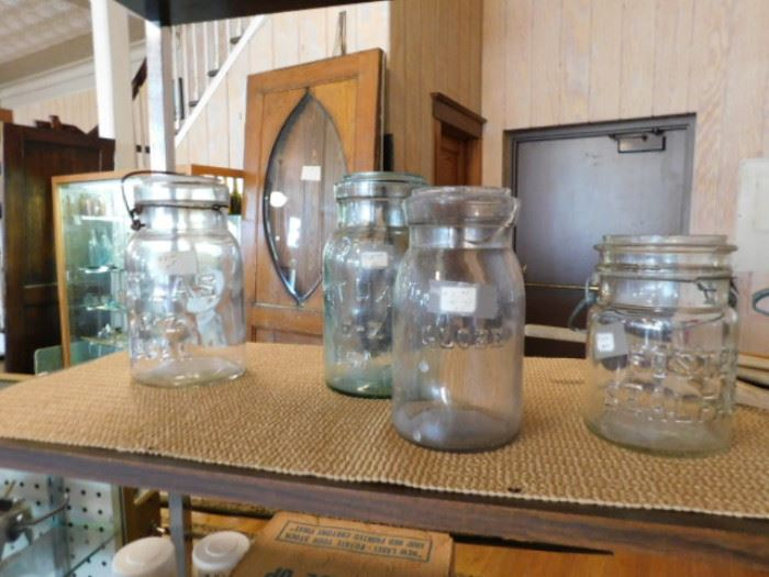 Vintage glass ball jars