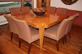 Square Dining Room Table & 8 Chairs