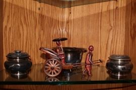 Figurine - Rickshaw, and Jars