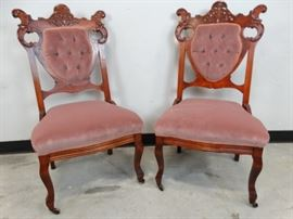 Antique Victorian Parlor Chairs - 2
