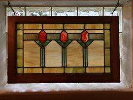Framed stain glass