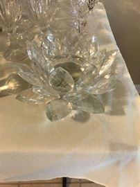 Crystal Petals Candle Holder