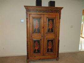 Drexel Hand Panted Cabinet