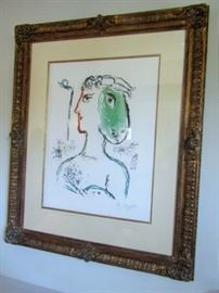 Marc Chagall, L'artiste Phenix, signed and numbered color lithograph