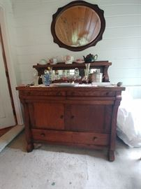 Antique oak sideboard $150