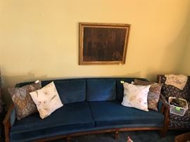 Retro curved sofa