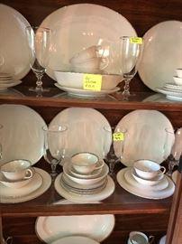 Noritake and Bavaria china, crystal glassware