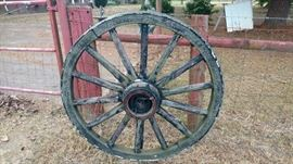 Pair of wagon wheels