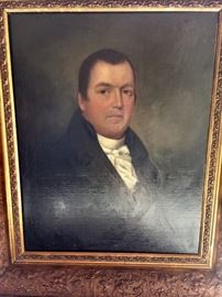 Oil on canvas by Thomas Young of Providence, 1809
