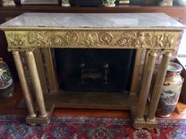 Nice gold gilded marble-top pier table