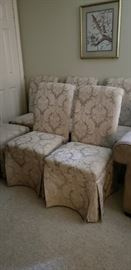 6 upholstered chairs , sell together or separate