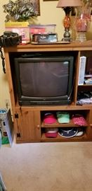 Small entertainment center and tv