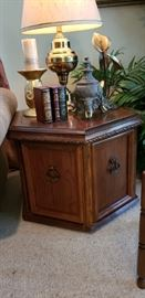 Side table and decor