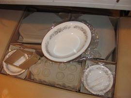 Noritake  China, Virginia pattern , never used and still in the box from the 1960's