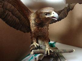 Large Boehm porcelain eagle, face view