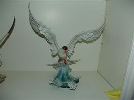 """American Boehm Porcelain, Forrester's Tern Cresting, approximate measurement, 19""""H x 17""""W"""